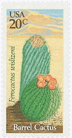 1981 20c Desert Plants: Barrel Cactus