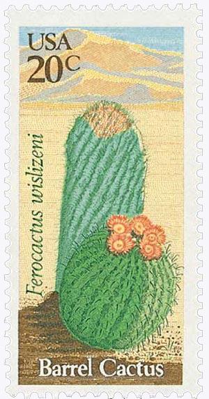 1981 20c Barrel Cactus