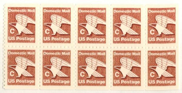 "1981-82 20c ""C"" Eagle,bklt pane of 10"