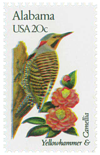1982 20c State Birds and Flowers: Alabama