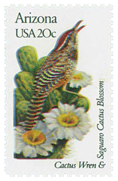 1982 20c State Birds and Flowers: Arizona