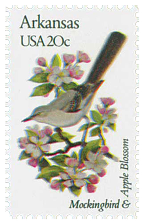 1982 20c Arkansas State Bird & Flower