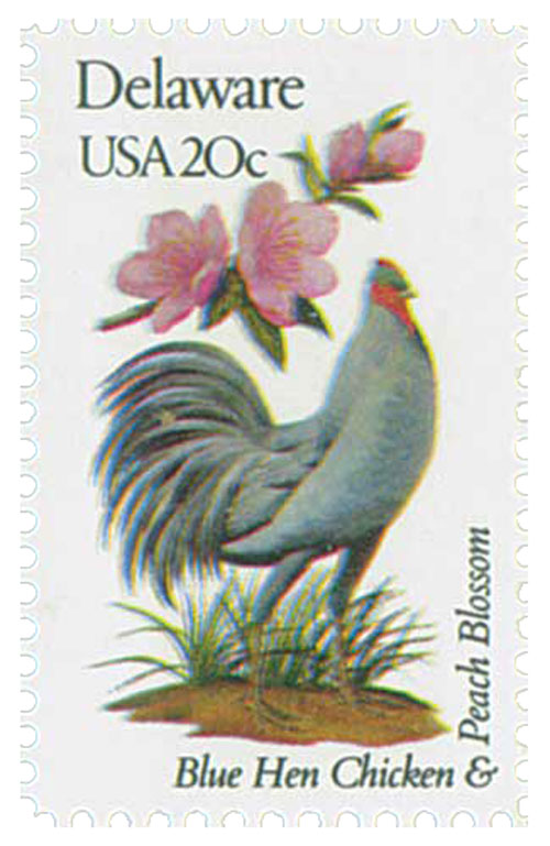 1982 20c State Birds and Flowers: Delaware