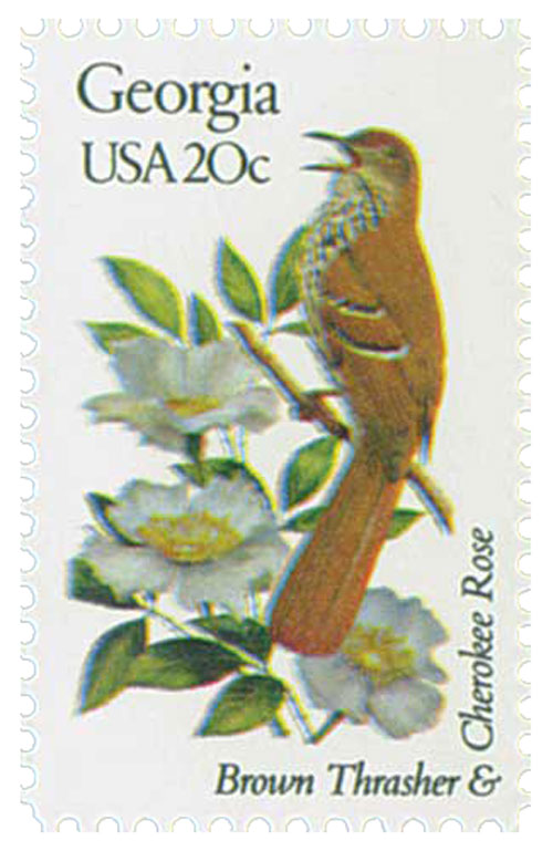 1982 20c Georgia State Bird & Flower