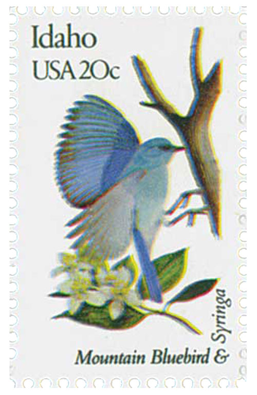 1982 20c Idaho State Bird & Flower