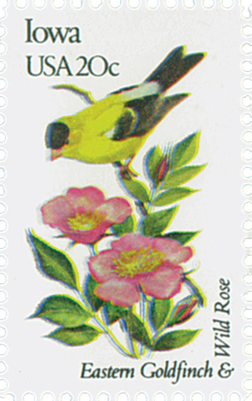 1982 20c State Birds and Flowers: Iowa