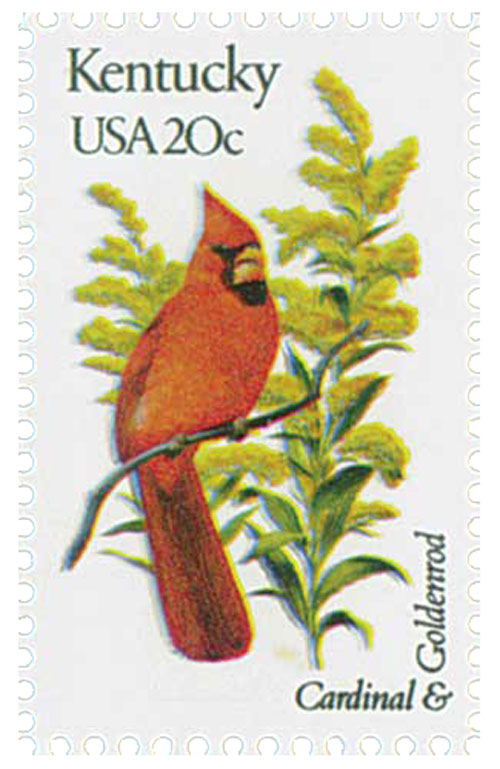 1982 20c State Birds and Flowers: Kentucky