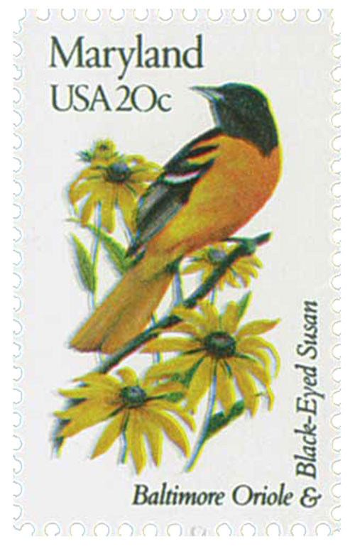 1982 20c State Birds and Flowers: Maryland