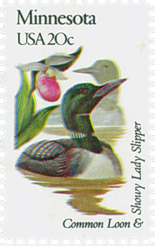1982 20c State Birds and Flowers: Minnesota