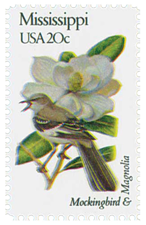 1982 20c Mississippi State Bird Flower For Sale At Mystic Stamp Company