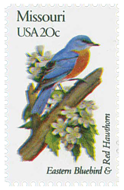 1982 20c State Birds and Flowers: Missouri