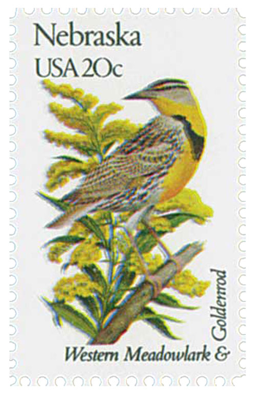 1982 20c State Birds and Flowers: Nebraska