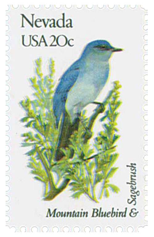 1982 20c State Birds and Flowers: Nevada