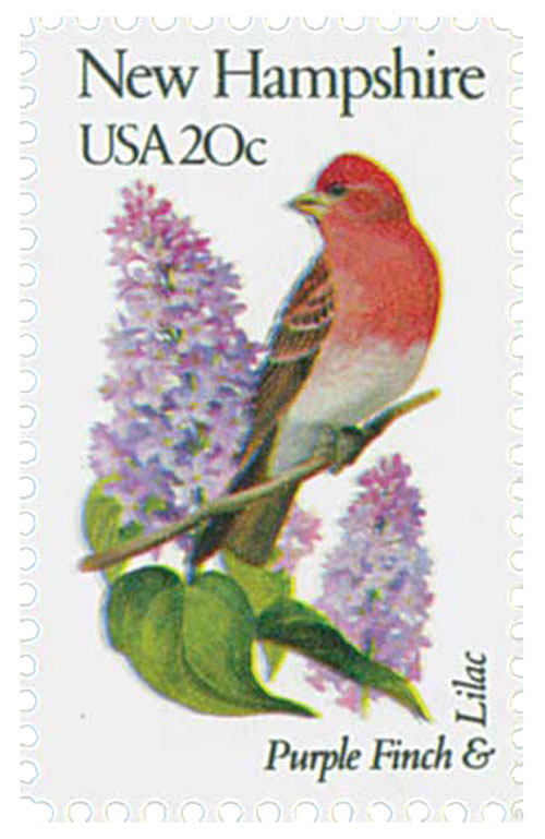 1982 20c State Birds and Flowers: New Hampshire