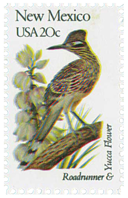 1982 20c State Birds and Flowers: New Mexico