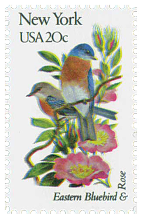 1982 20c State Birds and Flowers: New York