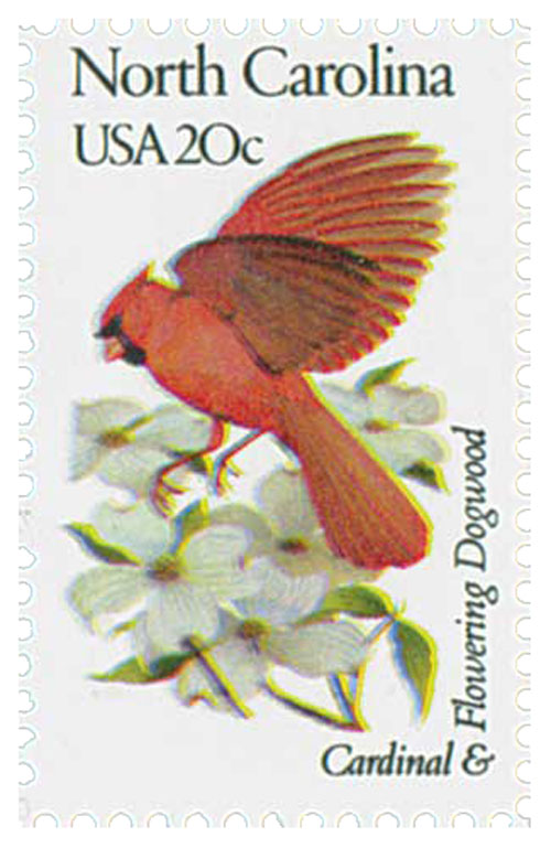 1982 20c State Birds and Flowers: North Carolina