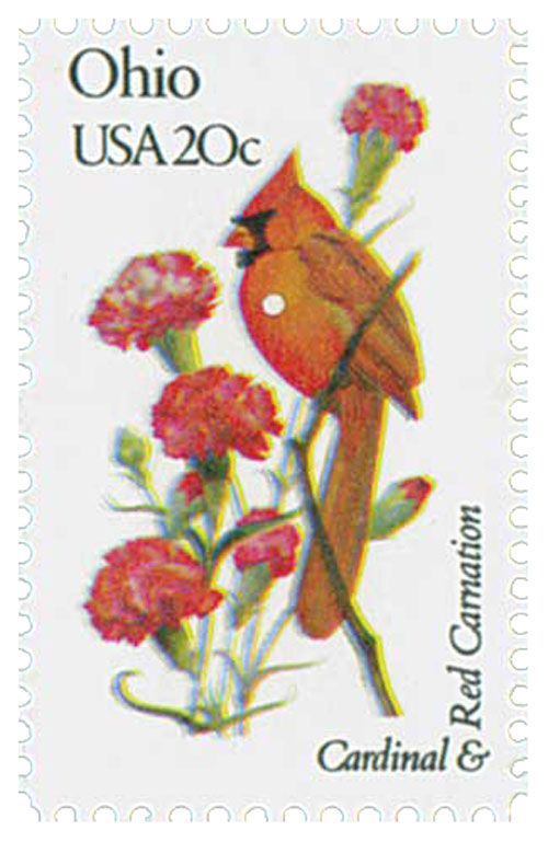 1982 20c State Birds and Flowers: Ohio
