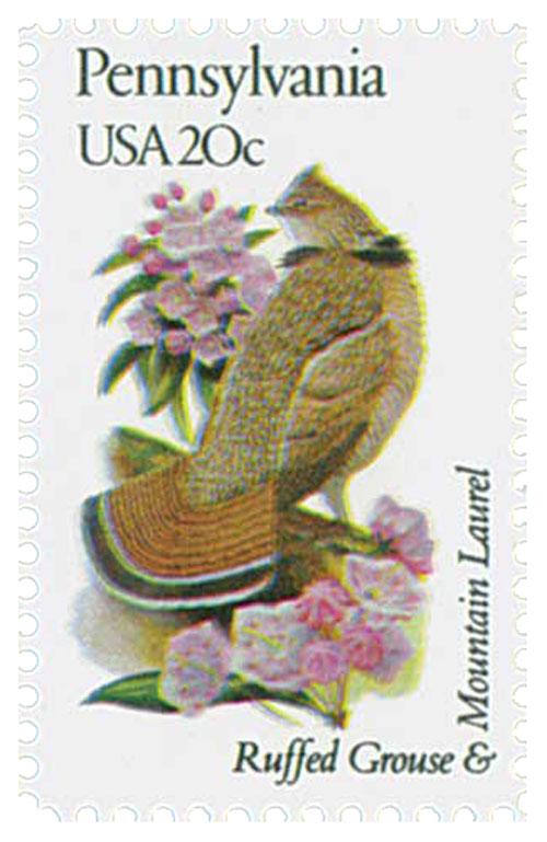 1982 20c Pennsylvania State Bird & Flower