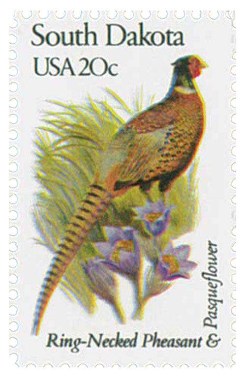 1982 20c State Birds and Flowers: South Dakota