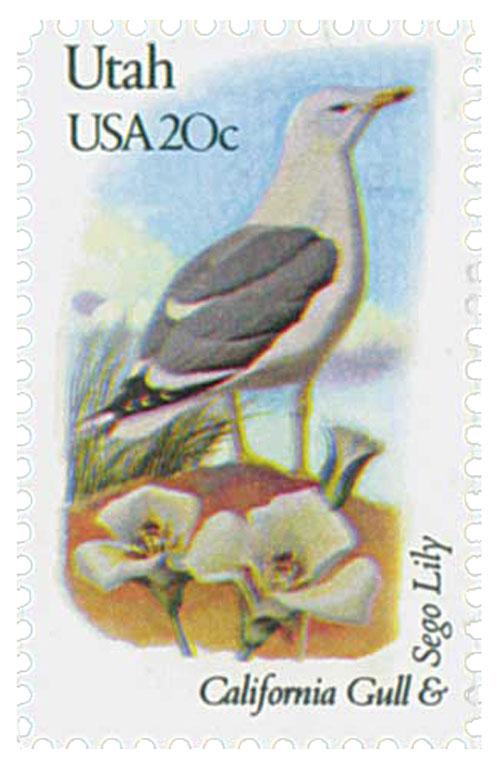 1982 20c State Birds and Flowers: Utah