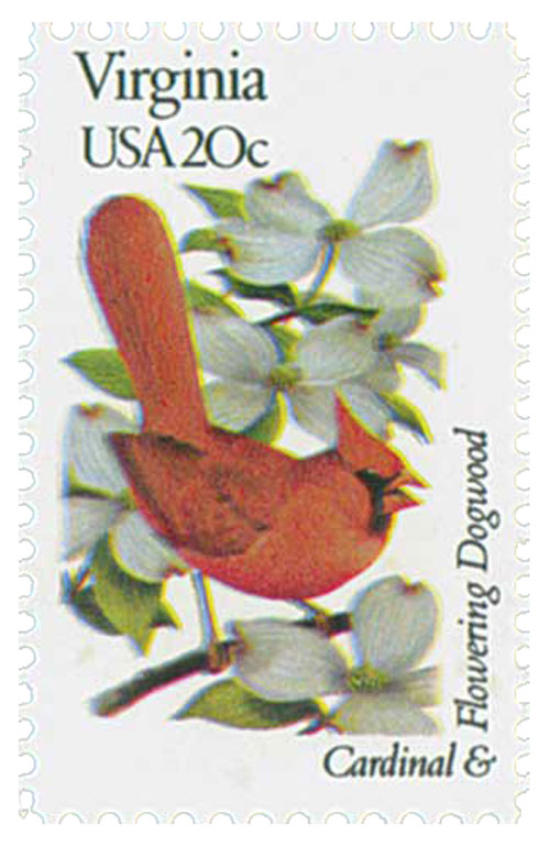 1982 20c State Birds and Flowers: Virginia