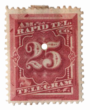 1881 25c rose, Prepaid Telegraph Stamp