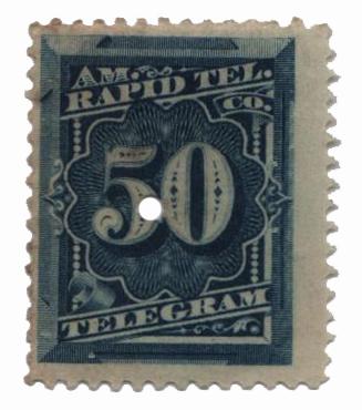 1881 50c bl,perf 12,'prepaid tel'