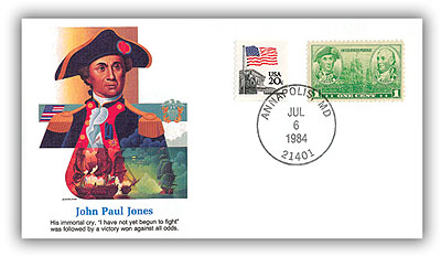 1984 John Paul Jones Commemorative Cover