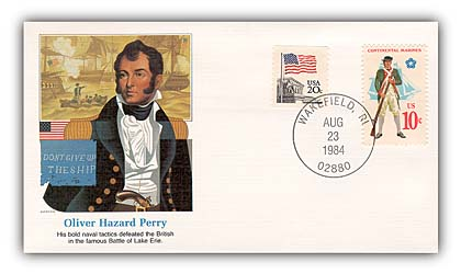 Item #20012 – Commemorative cover marking the 165th anniversary of Perry's death.