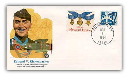 1984 Eddie Rickenbacher Commemorative Cover