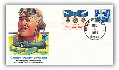 1984 Gregory O Boyington Commemorative Cover