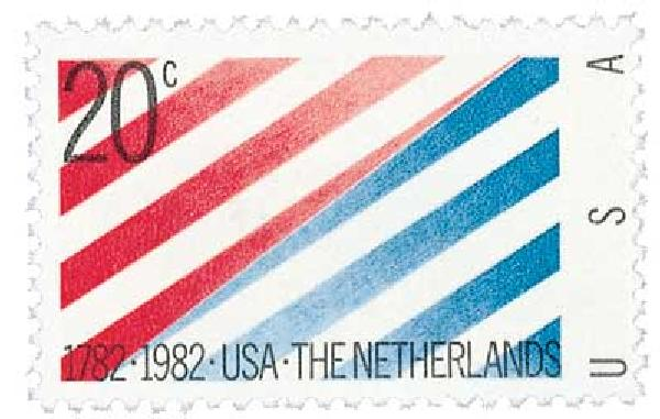 1982 20c U.S. and Netherlands Relations