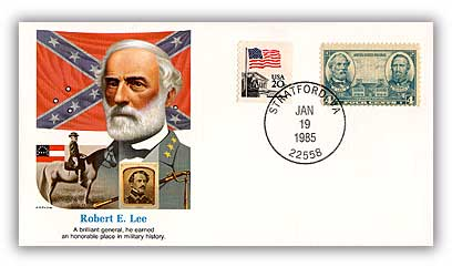Item #20033 – Commemorative cover marking Lee's 178th birthday.