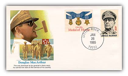 1985 Douglas MacArthur Commemorative Cover