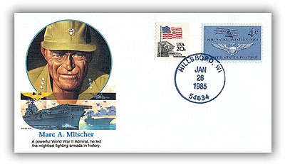 1985 Marc Mitscher Commerative Cover