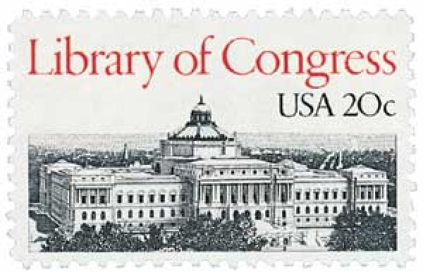 1982 20c Library of Congress