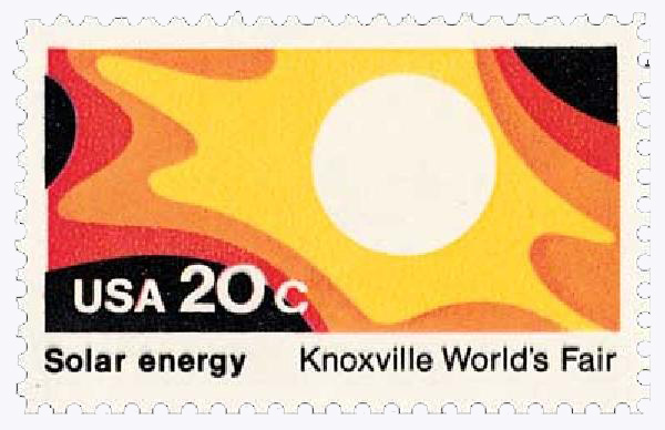 1982 20c Knoxville Worlds Fair: Solar Energy