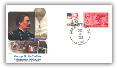 Item #20070 – Commemorative cover marking McClellan's 159th birthday.