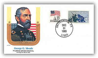 1985 George Meade commemorative cover marking his 170th birthday