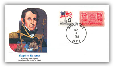1986 Stephen Decatur Commemorative Cover