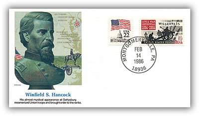 1986 Winfield S Hancock Commemorative Cover