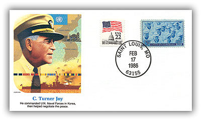 1986 C Turner Joy Commemorative Cover
