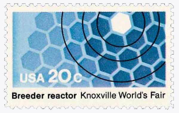 1982 20c Knoxville Worlds Fair: Breeder Reactor
