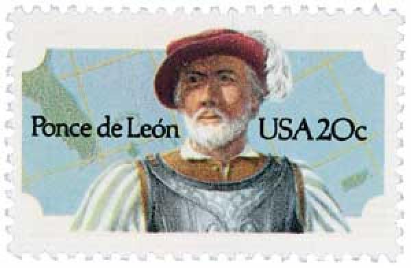 1982 20c Ponce de Leon