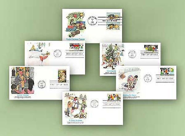 1982 Christmas Collection/Set of 6 FDCs