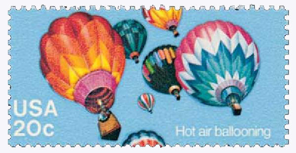 1983 20c Balloons: Hot Air Ballooning