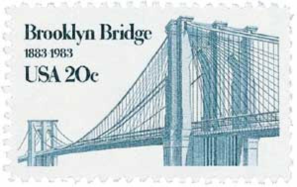 U.S. #2041 was issued for the 100th anniversary of the Brooklyn Bridge.