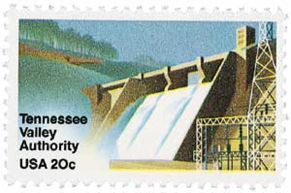 1983 20c Tennessee Valley Authority