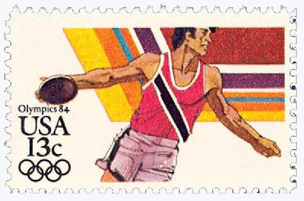 1983 13c Los Angeles Summer Olympics: Discus